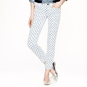 J.Crew Toothpick Ankle Pant Thistle Print
